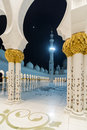 Sheikh zayed grand mosque arabic جامع ال يخ زايد الكبير‎ abu dhabi uae united arab emirates Royalty Free Stock Image