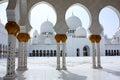 Sheikh zayed grand mosque em abu dhabi Imagens de Stock Royalty Free