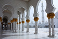 Sheikh zayed grand mosque i abu dhabi Royaltyfria Bilder
