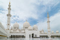 Sheikh zayed grand mosque is located in abu dhabi is considered to be the key for worship in the country Stock Image