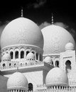Sheikh zayed grand mosque main domes the of the adu dhabi Stock Images
