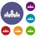 Sheikh Zayed Grand Mosque, UAE icons set