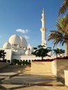 Sheikh zayed mosque in abu dhabi Fotografie Stock