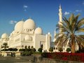 Sheikh zayed mosque in abu dhabi Stock Foto's