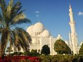 Sheikh zayed mosque in abu dhabi Stock Afbeeldingen