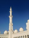 Sheikh zayed mosque in abu dhabi Stock Afbeelding