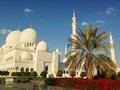 Sheikh zayed mosque in abu dhabi Stockfotografie