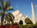 Sheikh zayed mosque in abu dhabi Royalty-vrije Stock Foto