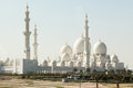 Sheikh zayed mosque in abu dhabi grand the capital city of united arab emirates Royalty Free Stock Photography
