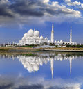 Sheikh zayed mosque in abu dhabi uae united arab emirates middle east Stock Photos