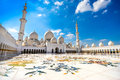 Sheikh zayed mosque abu dhabi in united arab emirates Stock Photos