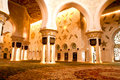 Sheikh Zayed mosque inside Stock Photography