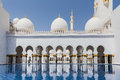 Sheikh Zayed Mosque Left Wing Facade, The Great Marble Grand Mosque at Abu Dhabi, UAE Royalty Free Stock Photo