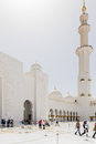 Sheikh Zayed Mosque Right Wing View From the Inside, The Great Marble Grand Mosque at Abu Dhabi, UAE