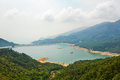 Shek pik reservoir and forest the photo was taken in lantau south country park hongkong china Stock Photography
