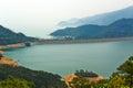 Shek pik reservoir the photo was taken in lantau south country park hongkong china Royalty Free Stock Photos
