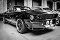 Shelby mustang gt cabrio eleanore berlin germany may is a high performance version of the ford black and white th oldtimer Stock Photography