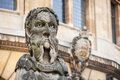 Sheldonian statues oxford england outside the theatre oxfordshire Royalty Free Stock Photo