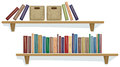 Shelf with books Royalty Free Stock Photo