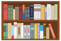 Shelf with books for you design Royalty Free Stock Images