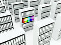 Shelfs with folders Royalty Free Stock Image