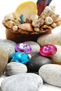 Shell & beads Stock Image