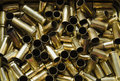 Shell casing background of used golden color Royalty Free Stock Photography