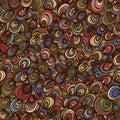 Shell circle cute line seamless pattern Royalty Free Stock Photo