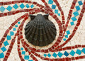 Shell-Mosaik-Auslegung Stockbild