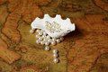 Shell with pearls Royalty Free Stock Photo