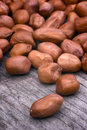 Shelled peanuts arachis hypogaea legumes used for human consumption and animal feed Stock Photography