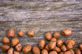 Shelled peanuts arachis hypogaea legumes used for human consumption and animal feed Royalty Free Stock Photo