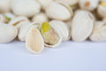 Shelled pistachio Stock Photography
