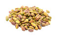 Shelled pistachio nuts isolated on a white background Royalty Free Stock Photo