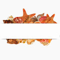 Shellfish  design  for label on white background Royalty Free Stock Photo