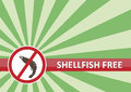 Shellfish Free Banner Royalty Free Stock Photos