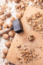 Shelling walnuts Royalty Free Stock Photos