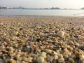 Shells and sand on the beach sea view chonburi Stock Photos
