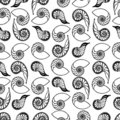 Shells seamless pattern Royalty Free Stock Images