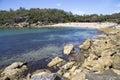 Shelly beach Imagen de archivo libre de regalías