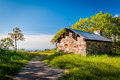 Shelter on Hawksbill Summit, in Shenandoah National Park, Virgin Royalty Free Stock Photo