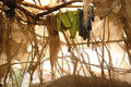 Shelter Interior in Darfur Stock Photography