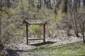 Shelter a small in the forest to protect hikers in case a storm arises Royalty Free Stock Photo