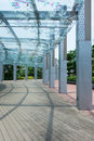 Sheltered Walkway Royalty Free Stock Photo
