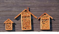 Shelters for insects Royalty Free Stock Photo