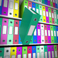 Shelves Of Files With One Falling For Getting Paperwork Organize Stock Photography