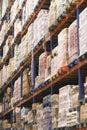 Shelves Full Of Merchandise In Warehouse Royalty Free Stock Photo