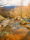 Shenandoah national park landscape of in virginia seen from dark hollow falls Royalty Free Stock Photos