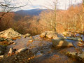 Shenandoah national park landscape of in virginia seen from dark hollow falls Stock Photos