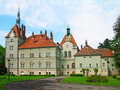 Shenborn castle, Carpathians, Ukraine Royalty Free Stock Photo